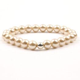 Moni - dámský náramek voskované perly smetanové