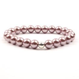 Moni - dámský náramek voskované perly starorůžová tmavší