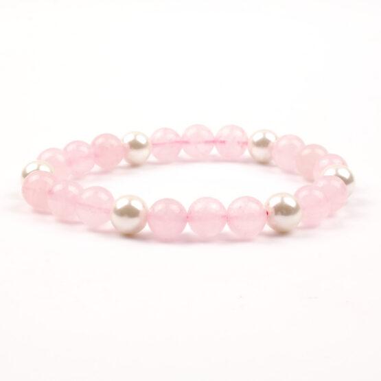 Dámský náramek růženín perly