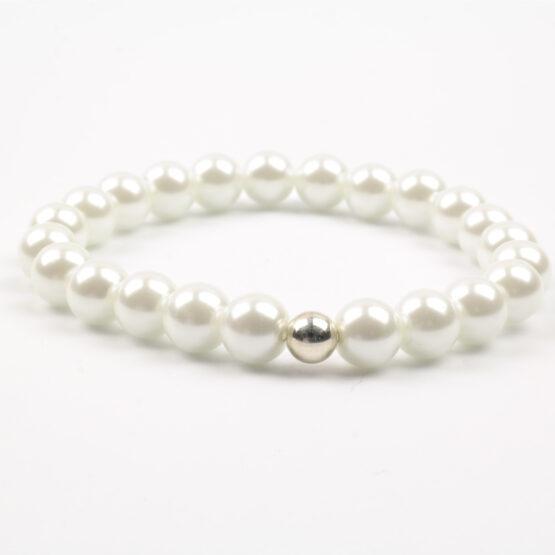 Moni - dámský náramek voskované perly bílé