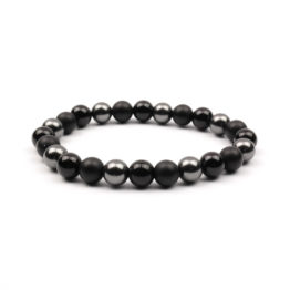 Moni - dámský náramek onyx skleněné perle