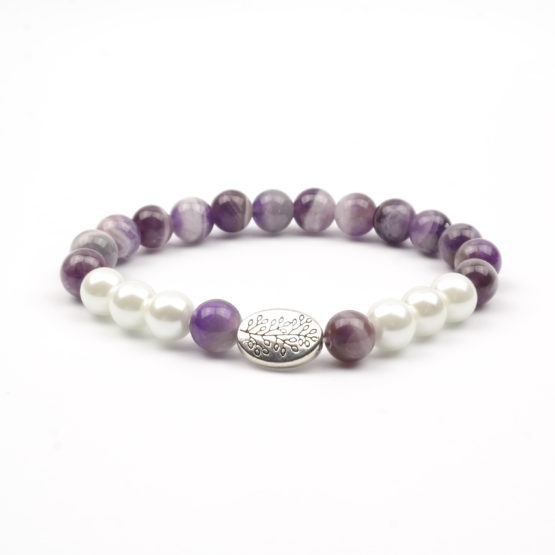 Moni - dámský náramek ametyst perly