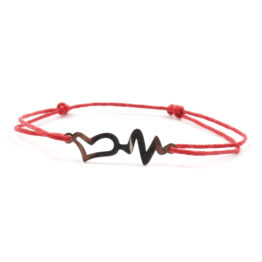 Moni náramek červený s kardiogramem